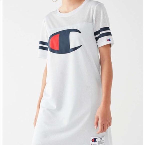 dddf63a4 Urban Outfitters Dresses   Champion Grey Mesh Jersey Dress   Poshmark